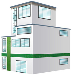 Architecture design for apartment building vector