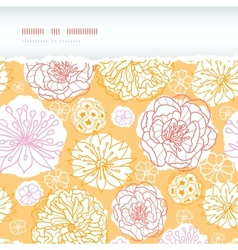 Warm day flowers horizontal decor torn seamless vector