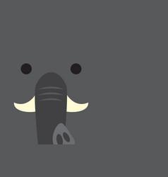 Cute elephant head vector
