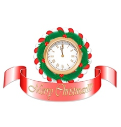 Gold Christmas Watch vector image