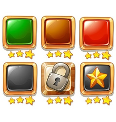 Gaming buttons vector image