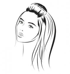 beauty vector face girl portrait vector image