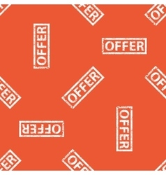 Orange offer stamp pattern vector