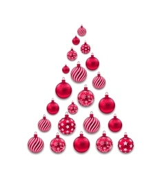Colorful christmas glass balls vector