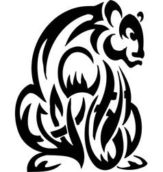 Bear in tribal style - vector