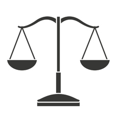 Balance scale isolated icon design vector