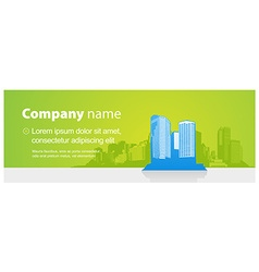 Header template with city and place for your text vector
