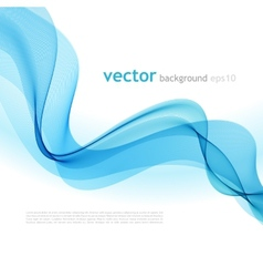 Abstract colorful background blue smoke wave vector image vector image