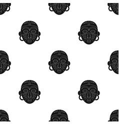 African tribal maskafrican safari single icon in vector