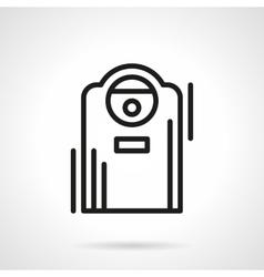 Air ionizer black line icon vector