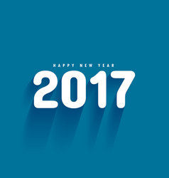 blue background with 2017 text and shadows vector image