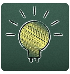 bulbs empty realistic black board in format vector image vector image
