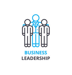 business leadership concept outline icon linear vector image
