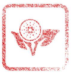 Cardano eco startup framed stamp vector