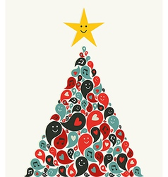 Christmas multimedia music tree greeting card vector image vector image