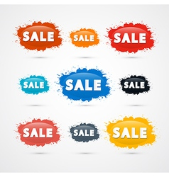 Colorful Sale Blots Icons vector image vector image