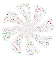 Decoration stars fireworks swirl rotation vector