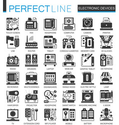 electronic devices classic black mini concept vector image vector image