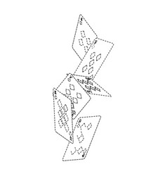 Falling poker cards diamond casino vector