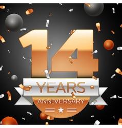 Fourteen years anniversary celebration background vector