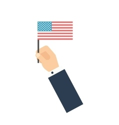 Hand holding American flag vote-concept Flat vector image vector image