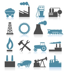 industry themed icons vector image vector image