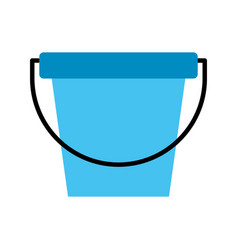laundry bucket isolated icon vector image