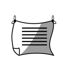 message paper romantic image vector image