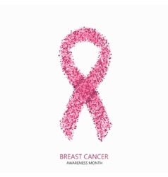 modern breast cancer awareness circles vector image