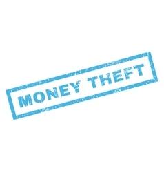 Money theft rubber stamp vector