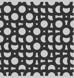 mosaic grayscale circles vector image