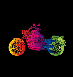 Motorbike side view abstract graphic vector