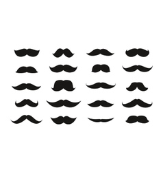Moustache isolated on white background vector image
