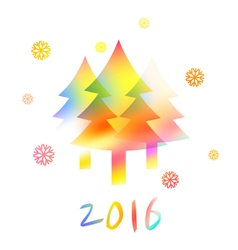 NY2016 Color Snowflakes vector image