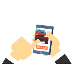 online rent car service conceptual icon vector image