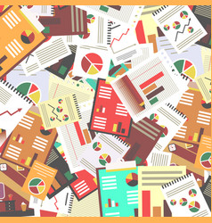 Paperwork retro flat design background vector