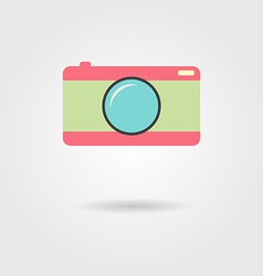 Photo camera with shadow vector