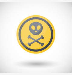 poison sign flta icon vector image vector image