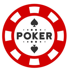 Poker casino chip flat icon vector