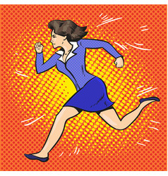 pop art of running vector image vector image