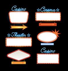 Retro vintage motel neon sign vector