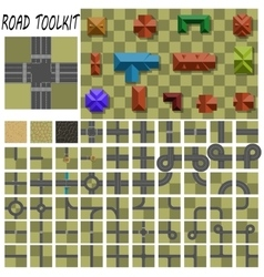Road construction kit vector image