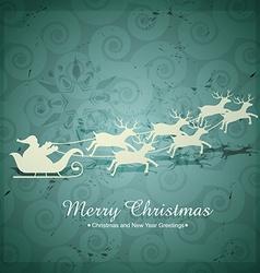 Santa claus flying vector