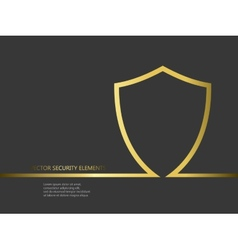 security elements with line shield vector image