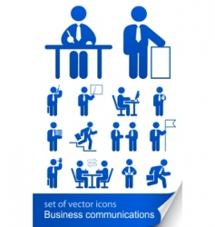 set informational business icon vector image