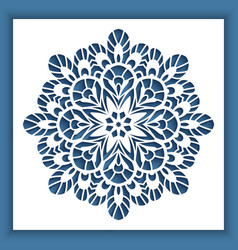 Square panel with cutout round pattern vector