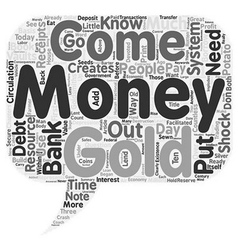 Where does money come from text background vector