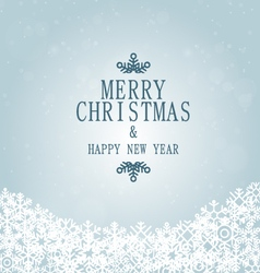 xmas and happy new year snowflakes vector image