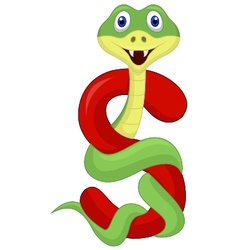 Alphabet s with snake cartoon vector