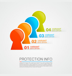 protection info vector image
